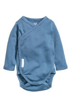 2-pack long-sleeved bodysuits - Blue - Kids | H&M 2