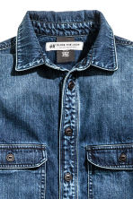 Denim shirt - Dark denim blue - Men | H&M CN 3
