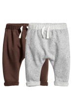 2-pack sweatpants - Dark brown -  | H&M CN 1