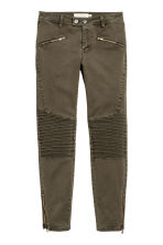 Pantaloni stile biker - Kaki scuro - DONNA | H&M IT 1
