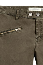 Pantaloni stile biker - Kaki scuro - DONNA | H&M IT 3