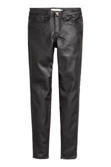 Coated lyocell-blend trousers