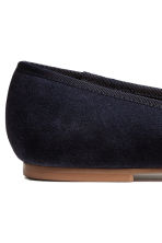 Suede ballet pumps - Dark blue - Kids | H&M CN 3