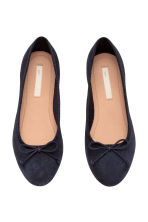 Suede ballet pumps - Dark blue - Kids | H&M CN 1