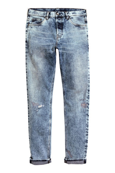 Slim Tapered Regular Jeans - Blu denim/Acid - UOMO | H&M IT 1