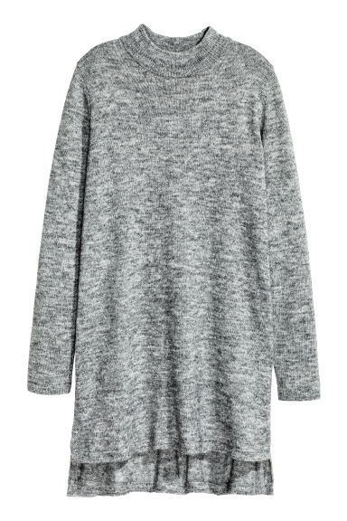 Knitted tunic - Grey marl - Ladies | H&M CN 1