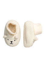 Knitted bootees - White - Kids | H&M CN 1