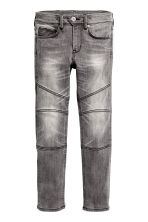 Skinny Fit Biker Jeans - Dark grey washed out - Kids | H&M CN 2