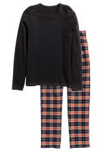 Pyjamas - Black/Checked - Men | H&M CN 2