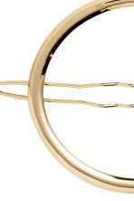 Oval metal hair clip - Gold - Ladies | H&M CN 2