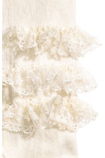 Tights with lace frills - Natural white - Kids | H&M CN 2