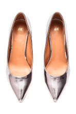 Shimmering court shoes - Silver -  | H&M IE 3