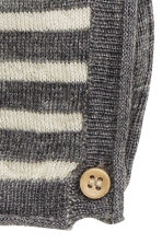 Fine-knit wool romper suit - Grey/Striped - Kids | H&M CN 2