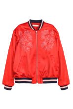 Embroidered bomber jacket - Red - Ladies | H&M GB 2
