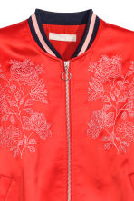 Embroidered bomber jacket - Red - Ladies | H&M GB 4