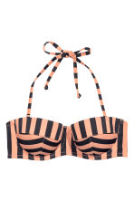 Balconette bikini top - Nougat/Striped - Ladies | H&M 2