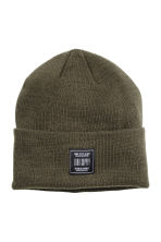 Knitted hat - Khaki green - Men | H&M CN 1