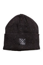 Knitted hat - Black/Neps - Men | H&M CN 1