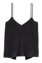 Tie-back strappy top - Black - Ladies | H&M CN 2