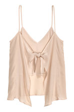 Tie-back strappy top - Light beige - Ladies | H&M CN 3