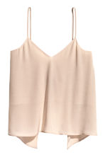 Tie-back strappy top - Light beige - Ladies | H&M CN 2