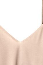 Tie-back strappy top - Light beige - Ladies | H&M CN 4