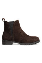 Warm-lined Chelsea boots - Dark brown - Ladies | H&M CN 1