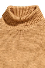 Sleeveless polo-neck jumper - Beige - Ladies | H&M CN 3