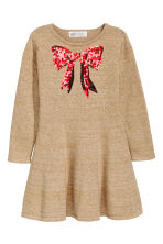 Sequined dress - Beige/Bow - Kids | H&M GB 2