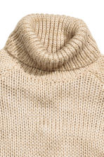 Chunky-knit polo-neck jumper - Light beige - Ladies | H&M GB 3