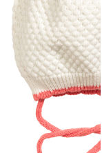 Hat with a pompom - Natural white - Kids | H&M CN 2
