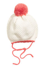 Hat with a pompom - Natural white - Kids | H&M CN 1
