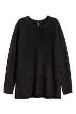 Oversized jumper - Black - Ladies | H&M CN 2