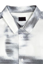 Patterned cotton shirt - White/Patterned - Men | H&M CN 3
