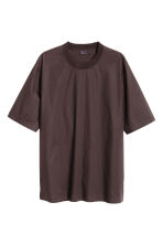 Woven T-shirt - Dark brown - Men | H&M CN 2