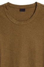 Nepped T-shirt - Khaki brown - Men | H&M CN 3
