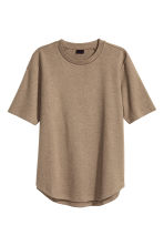 Short-sleeved sweatshirt - Dark beige marl - Men | H&M CN 2