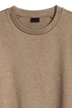 Short-sleeved sweatshirt - Dark beige marl - Men | H&M CN 3