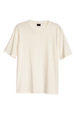 Ribbed T-shirt - White - Men | H&M CN 2