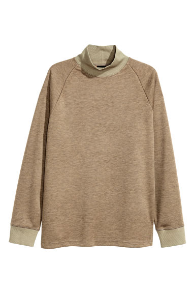 Turtleneck sweatshirt - Dark beige - Men | H&M CN 1
