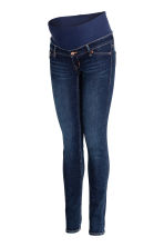 MAMA Skinny Low Rib Jeans - Dark denim blue -  | H&M CN 2