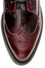 Brogue-patterned boots - Burgundy - Ladies | H&M CN 4