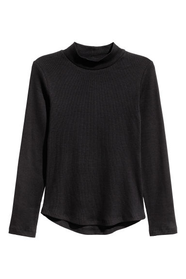 Turtleneck top - Black - Kids | H&M CN 1