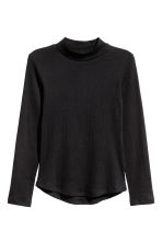 Turtleneck top - Black - Kids | H&M GB 1