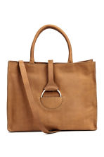 Nubuck handbag - Brown -  | H&M CN 1