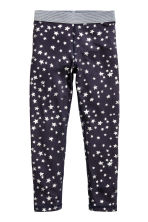 Patterned sports trousers - Dark blue/Stars - Kids | H&M CN 2