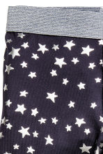 Patterned sports trousers - Dark blue/Stars - Kids | H&M CN 3