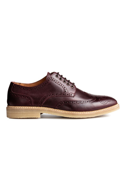 Scarpe brogue in pelle