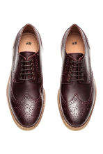Leather brogues - Burgundy -  | H&M CN 3