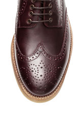 Leather brogues - Burgundy -  | H&M CN 4